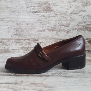 🔵Nickels Brown Leather Office Loafer